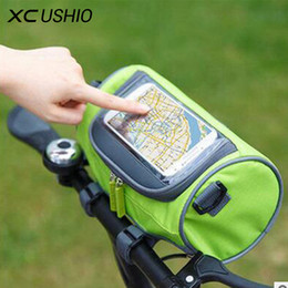 bicycle bag phone NZ - Waterproof Mountain Bike Bicycle Bags Panniers Touch Screen Cycling Phone Bag Case Road Bike Front Tube Handlebar Cylinder Bag