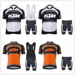 mens lycra cycling shorts Australia - New KTM Mens Comfortable Short Sleeve Cycling Jersey (Bib) Shorts MTB Bicycle Clothes Strap Maillot Ropa Ciclismo 9D Gel Pad