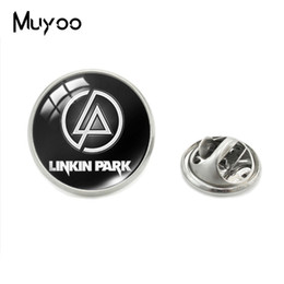 Rock bRooch online shopping - 2019 New Fashion Rock Linkin Park Fans Music Band Logo Patterns Glass Dome Lapel Pins Linkin Park Symbol Jewelry Pins