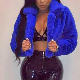 Plus Size Faux Fur Clothes Australia - feitong Fashion Women Coat Fluffy Fleece Turn-down Collar Faux Fur Top Short Loose Coat Fashion women clothes 2018 Plus Size
