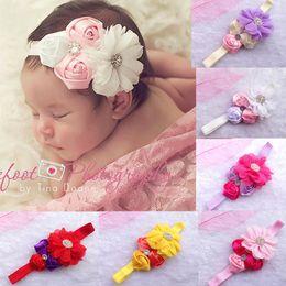 36PCS fascia dei capelli grande chiffon fiore bowknot fascia ragazze nastri per capelli per le neonate bambini turbante fascia dei capelli neonato all'ingrosso