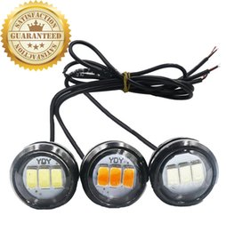 $enCountryForm.capitalKeyWord Australia - 2 PCS OF Hot sale Eagle Eye 5630 3 SMD 23mm Car White Amber DRL Daytime Running Light Backup Reverse Parking Lamp double colors