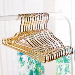 $enCountryForm.capitalKeyWord NZ - Metal Hangers Adult Suit Thickening Shelf Clothes Drying Racks Anti Skidding Curve Design Coat Hanger Seamless Rose Gold Rack bb420-427 2018