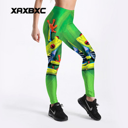 leggings tree print 2019 - 2018 New C4111 Tree Frog Mermaid scale 3D Printed Push Up Slim Tights Fitness Women Jogging GYM Yoga Pants Femme Sport L