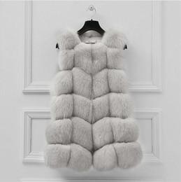 $enCountryForm.capitalKeyWord Australia - LEDEDAZ Royal Blue Sleeveless Faux Fur Jacket & Coat Fashion Spring Autumn Ladies Long Faux Fur Vest 3XL
