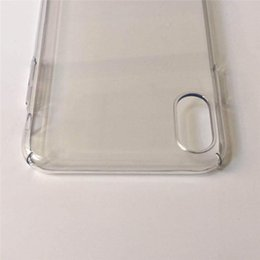 Clear Protector Case Iphone Australia - Ultra Thin Clear PC Case for iphone X XR XS MAX DIY Custom Luxury Slim Full Body Protector Shockproof Cover Cases for Apple iphone xr xs max