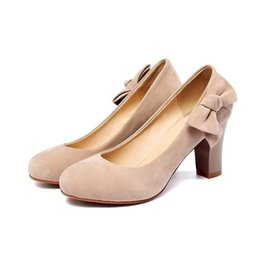 1995e9b63 ShoeS wedge heel Small online shopping - Sexy2019 Cashmere Shallow Mouth  Spring Small Fresh Side Bow