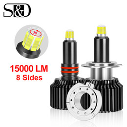 Discount h1 led headlight lamp car - 8 Sides 15000LM H11 H7 Led Car Headlights Bulbs Canbus H8 H1 HB3 9005 HB4 9006 50W 3D Automotive Fog Lights Auto Lamp