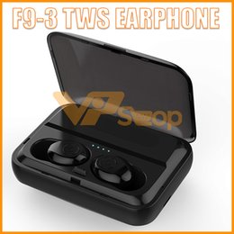 Wholesale F9 TWS Bluetooth Headset Earbuds V5 Touch Wireless Headphones Sports Dustproof Stereo Earphones with Charging Stand
