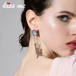 Ingrosso Kiss me Mixed Earrings 2018 Nuovo design acrilico stelle di cristallo Gemetric Orecchini a goccia per le donne Gioielli di moda