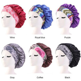 hair loss women Australia - New Hot Imitate Silk Bonnet Cap Floral Printed Night Sleep Hat Muslim Style Caps Hats Hair Loss Cap Women Maternity Hat Chemotherapy Beanies