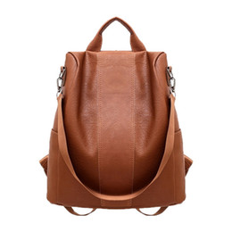 $enCountryForm.capitalKeyWord UK - wholesale Retro Women Leather Backpack College Preppy School Bag for Student Laptop Girls Ladies Daily Back Pack Shop