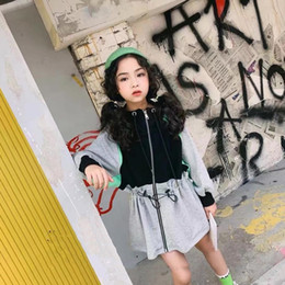 $enCountryForm.capitalKeyWord Australia - Korean style patchwork cotton long coats for baby girls autumn new Drawstring hooded zipper outerwear jackets for children ws952