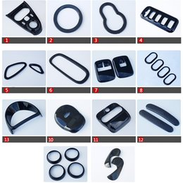 Gear Doors Australia - Black Car Interior Styling Outlet Gear Panel Cover Window Control Door Handle Moulding Trim for Smart fortwo forfour 2015-2018