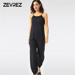 4d3cb96f744d Summer Jumpsuit for Women Sexy Casual Black Sling Backless Lantern Pants  Female Overalls Elegant Beach Rompers Plus Size Zevrez Y1891808