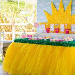 $enCountryForm.capitalKeyWord Australia - Urijk 100x50CM Multicolor Table Skirt Tableware Cloth For Wedding Decoration Children's Birthday Party Home Table Skirting