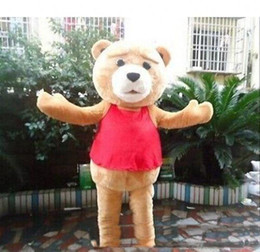 peluche al por mayor-2019 venta caliente Ted Teddy Bear Movie personaje de dibujos animados evento traje de la mascota