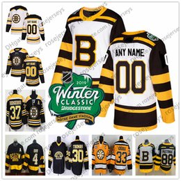 3d0d51cd1 Custom Boston Bruins 2019 Winter Classic White Jerseys Any Number Name men  women youth kid Black Third Yellow Vintage Pastrnak Marchand Orr