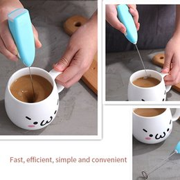 electric handle beater UK - 1pc Milk Drink Coffee Whisk Mixer Electric Egg Beater Frother Foamer Mini Handle Stirrer Practical Kitchen Cooking Tool