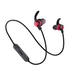 Wholesale SLS Bluetooth Headphones Magnetic Wireless Running Sport Earphones Headset BT with Mic MP3 Earbud For iPhone Samsung