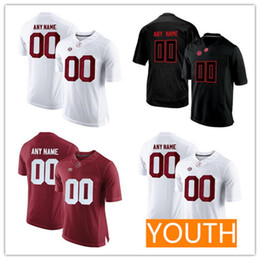 41d6d7ca947 Custom Mens Youth Alabama Crimson Tide College Football black red white  women Kid Stitched Any Name Number 13 Tagovailoa Jersey S-3XL