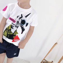 5ec156d5b4b5e Nouveau mode 2019 été enfants garçons T-shirt T-shirt de poche d impression  de bande dessinée