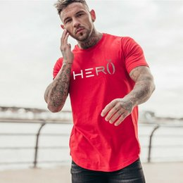 $enCountryForm.capitalKeyWord Australia - 2019 New Men Brand gyms t shirt Fitness Bodybuilding Slim fit Cotton Shirts Short Sleeve workout male sporting Tee Tops clothing