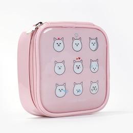 Cute Cosmetic Makeup Bags Australia - Wholetide- Women Pu Leather Large Capacity Cartoon Cosmetic Bags Makeup Bags Waterproof Cute Fashion Zipper Beauty Bags Travel Make Up Bag