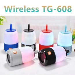 colourful mobiles NZ - Night Lamp Colourful Wireless Bluetooth Speakers TG608 TG168 Mini Protable Audio Player Aux TF USB FM Radio Mp3 Music Players for All Phone