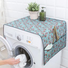 flower refrigerators UK - 55*130cm Flower Patterned Waterproof Washing Machine Covers Household Refrigerator Cleaning Home Gear Organizer Wholesale Case
