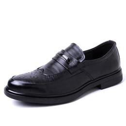 Mens wingtip dress shoes online shopping - brogue shoes men formal loafers mens wingtip shoes men italian shoes genuine leather sepatu slip on pria erkek ayakkabi