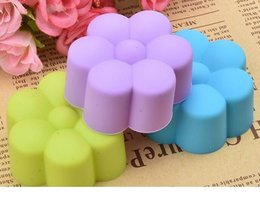 mini cupcake cake NZ - 1000pcs Mini 5cm Silicone Cupcake Liner Flower Soft Cake Chocolate Cake Muffin Liners Baking Cup Mold