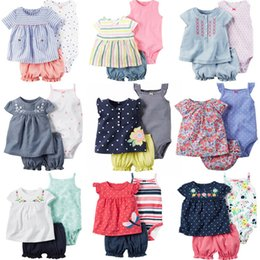 Sweet Baby Clothes Australia - 2018 Baby Girl Clothing Set Summer Newborn Designer Baby Clothes Girls Infant Cotton Romper Sweet Baby Jumpsuit Climb Clothes J190524