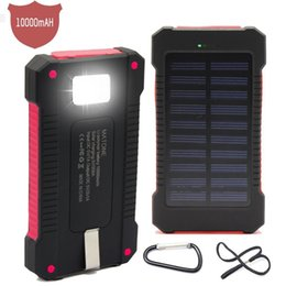 Wholesale power bank bateria externa resale online - Bank Power Portable mAh Battery Dual Solar External Charger Mobile Bateria Externa Pack For USB Phone Euupe