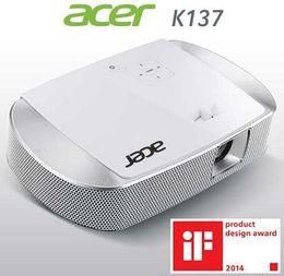 Acer K137 Taşınabilir Ev Sineması Projektörü (Beyaz) indirimde