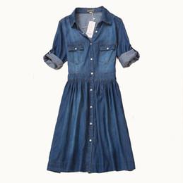 $enCountryForm.capitalKeyWord UK - High Quality 2016 Spring and Autumn Clothing Plus Size Women Denim Dress Elegant Slim Cowboy Casual