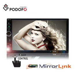 japanese remote Australia - Podofo 7018B 2 Din Car Radio HD Autoradio LCD Touch Screen Car DVD Stereo MP5 Player + 12 LED Rear View Camera With Remote Control