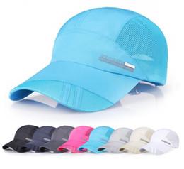 Outdoor Running Caps Mesh Breathable Men Baseball Golf Cap Summer  Adjustable Travel Sun Hat Sports Caps for Men Women peaked cap 09e44d5e0ff5