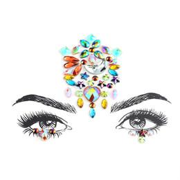 Face Adhesive Jewelry Gems Temporary Tattoo Face Jewelry Festival Party  Body Art Gems Rhinestone Flash Tattoos Stickers Make Up ce0b9fcc8e87
