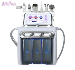 Venta al por mayor de 2018 Nuevo Hydra Water Facial Cleaner Aqua Peel Ultrasonido Microcorriente BIO Cold Hammer H2O2 Spray Gun servey