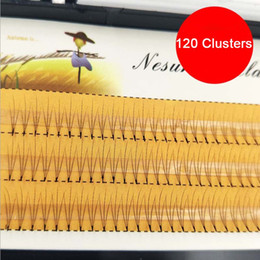 W Eyelashes Australia - 3 Flares Eyelash 120 Clusters W lashes Natural Eyelash Extensions 8 9 10 11 12mm make up extenions