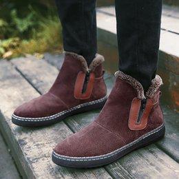 $enCountryForm.capitalKeyWord Australia - 1Men Shoes Autumn 2019 Winter Warm Ankle Boots New Arrival Zipper Boots Casual Solid Low Heel Botas Zapatos De Hombre 7.29