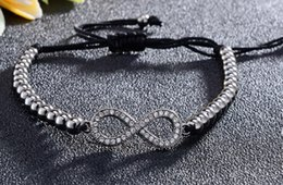 $enCountryForm.capitalKeyWord Australia - 8mm cb55 glasses infinity gold silver cz zircon cubic zirconia bracelet adjusted Macrame Charm Braided Copper Rope Bangles