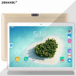 gold tablet gps NZ - 10.1 inch Tablet PC Android 8.1 1.5GHz 3G Phone Call 4GB+64GB Octa Core Wi-Fi Bluetooth Dual SIM Support GPS (Gold) 10.9.12