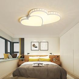 Heart sHaped room ligHt online shopping - Bedroom lamp warm romantic led ceiling lamp girl pink wedding room lamp alien heart shaped room ceiling light R57