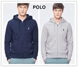 Polo Hoodies 3xl Australia - 2019 Small horse Sweatshirts Men Fashion Zipper Cardigan Jacket Casual Pleated Pockets Sportwear Mens Hoodies Sweatershirt polo