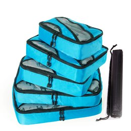 Cloth Cubes Australia - 2019 New 5PCS Set High Quality Oxford Cloth Travel Mesh Bag In Bag Luggage Organizer Packing Cube Organiser for Clothing Shoes