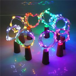 Craft string lights online shopping - Bottle light string leds meters sliver wire with Bottle Stopper for Glass Craft Wedding Decoration and party light