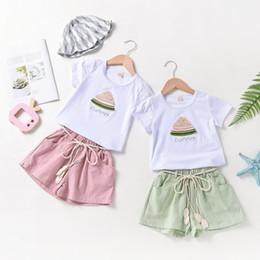 $enCountryForm.capitalKeyWord NZ - Children's suit Korean children's wear thin cartoon children's short-sleeved shirt girls summer new products listed Girls shorts