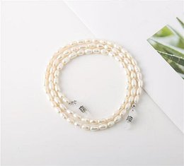 Wholesale High quality natural pure pearl glasses strap chain silica gel loop eyeglasses readingglasses anti slip lanyard gift case party Jewelry